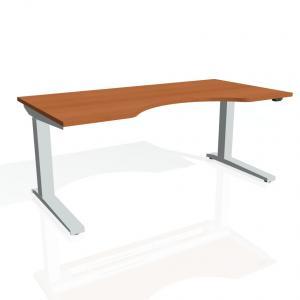 Výškovo nastaviteľný stôl Exvizit Ergo - Podla výberu, Elektrický zdvih, 1600 mm, 650 - 1320 mm, 800 mm, základný ovládač