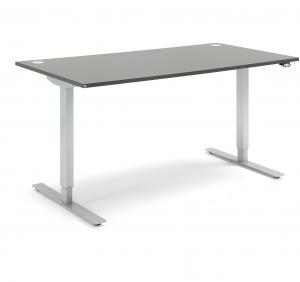 Výškovo nastaviteľný stôl Flexus, rovný, 1600x800 mm, šedá
