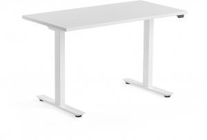 Výškovo nastaviteľný stôl Modulus, 1200x600 mm, biela, biela