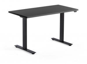 Výškovo nastaviteľný stôl Modulus, 1200x600 mm, čierna, čierna