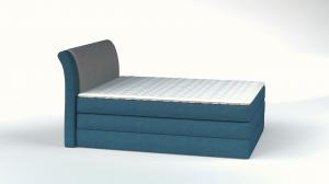 Vysoká postel AMALFI Rozměr: 120 x 200 cm, Skupina látek: I. skupina