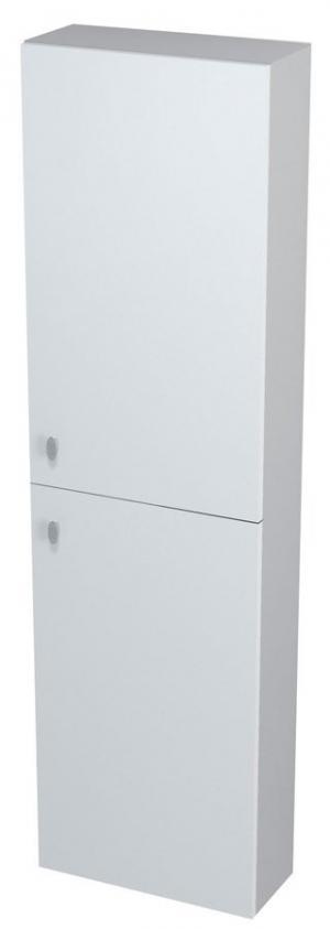 Vysoká skrinka AILA, 40x140x18, bielo-strieborná - Lavá