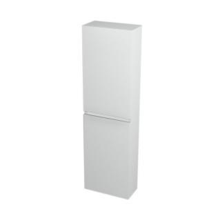 Vysoká úzka skrinka  LARGO, 40x140x20cm, biela, policová - Lavá