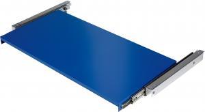 Výsuvná polica pre skriňu na náradie Supply, 875x455 mm, modrá