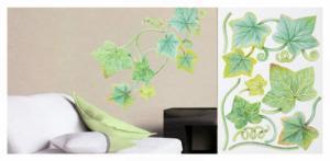 Walldecor Nálepky na stenu - Zelený brečtan 35x59cm