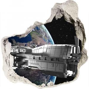 WALLMURALIA Foto fotografie diera na stenu Vesmírna loď 75x75 cm