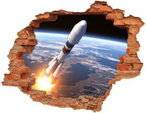 WALLMURALIA Foto fotografie diera na stenu Vesmírna raketa 90x70 cm
