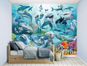 Walltastic 3D tapeta na stenu Podmorský život - 244x305cm Rozmer: 244 x 305cm