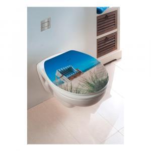 WC sedadlo s jednoduchým zatváraním Wenko Beach Chair, 45 × 38,8 cm