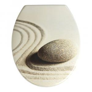 WC sedadlo s jednoduchým zatváraním Wenko Sabbia, 44,5 × 37,5 cm