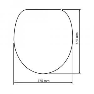 WC sedadlo Wenko Star, 45 × 38 cm