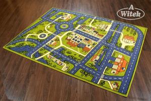 WELTOM Detský koberec Mestečko limetka od 120x170 cm