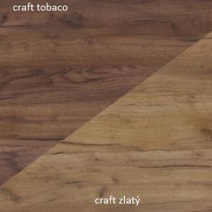 WIP Komoda Maximus MXS-09 Farba: Craft tobaco / craft zlatý