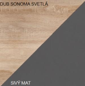 WIP Konferenčný stolík SOLO SOL 03 Farba: Dub sonoma svetlá / sivý mat