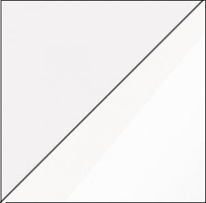 WIP Nízka skrinka VIKI 03 Farba: Biela / biely lesk