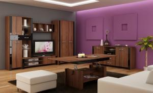 WIP Obývacia stena HUGO II Farba: craft zlatý / krémový