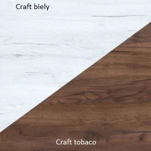 WIP PC stolík SOLO SOL 01 Farba: Craft tobaco / craft biely