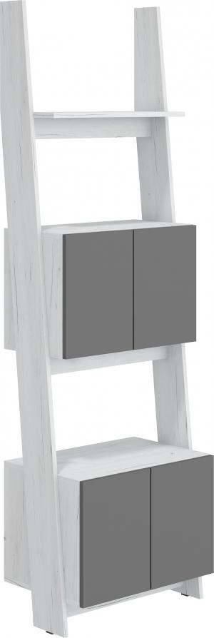 WIP Regál 60-2D Rack 05 Farba: craft biely / grafit