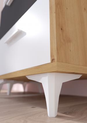 WIP Regál HEY-14 45W Farba: Dub artisan/biela/žltá