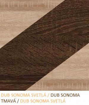 WIP Regál NOTTI 04 Farba: Dub sonoma svetlá / dub sonoma tmavá / dub sonoma svetlá
