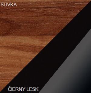 WIP Regál SOLO SOL 05 Farba: Slivka / čierny lesk