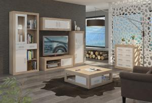 WIP Regál Verin 17 Farba: Craft biely / craft zlatý