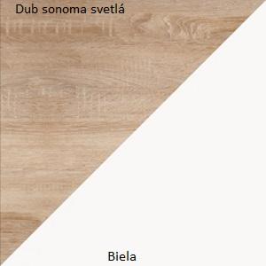 WIP Šatníková skriňa RIO 24 Farba: dub burgund/biela