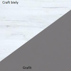 WIP Šatníková skriňa STELLA STE-05 Farba: Biela / čierny lesk