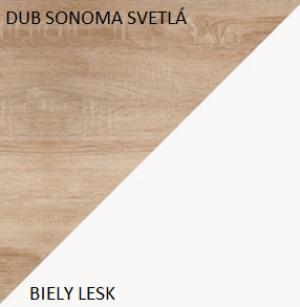 WIP Skriňa MAX 05 Farba: Biela / čierny lesk