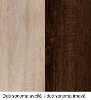 WIP Skriňa VERIN 06 Farba: dub burgund/biela lesk