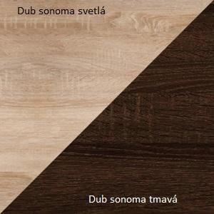 WIP Skrinka Angel 10 Farba: Dub sonoma svetlý / dub sonoma tmavý