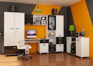 WIP Študentská izba SOLO II Farba: Biela / čierny lesk