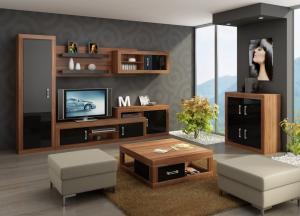 WIP TV skrinka VERIN 05 Farba: Craft biely / craft zlatý