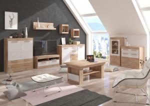 WIP TV stolík Maximus MXS-34 Farba: Craft zlatý / craft biely