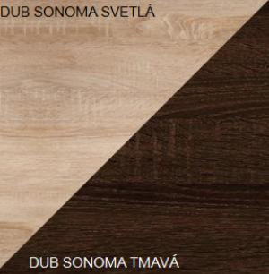 WIP Závesná skrinka VIKI 06 Farba: Dub sonoma svetlá / dub sonoma tmavá