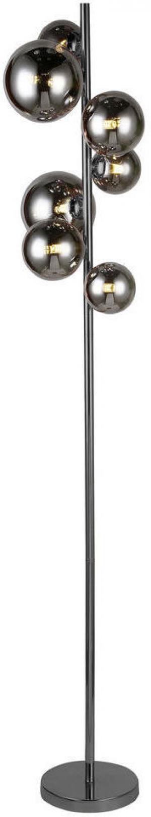 Wofi LED STOJACIA LAMPA, 35/25/155 cm - čierna, chrómová