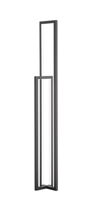 WOFI Stojací lampa ZENIT 1x LED 23W 1500lm 3000K černá 11027