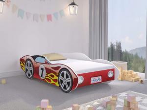 WT Detská posteľ auto Corvetta 160x80 - červená