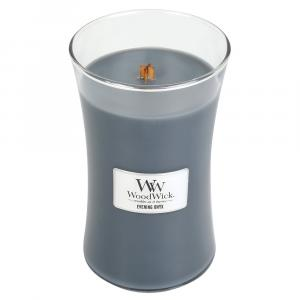 WoodWick sviečka veľká Evening Onyx Parafín šedá