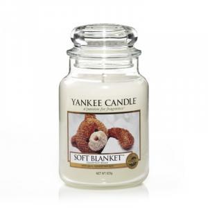 Vonná sviečka Yankee Candle - Soft blanket Veľkosť sviečky: Veľká