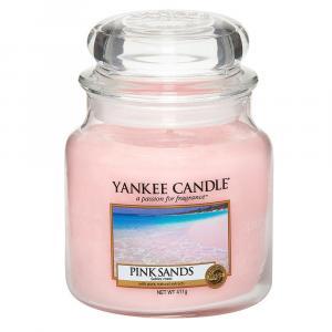 Yankee Candle sviečka Pink Sands stredná Parafín ružová
