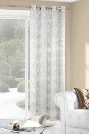 Záclona 140x250 cm - Eurofirany - Eva (strieborná). Sme autorizovaný predajca Eurofirany.