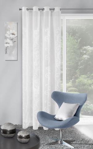 Záclona 140x250 cm - Eurofirany - Nicola (biela). Akcia -11%. Sme autorizovaný predajca Eurofirany.