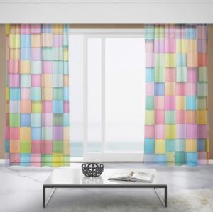Záclony Farebné kocky (Rozměr záclony: 150x250)