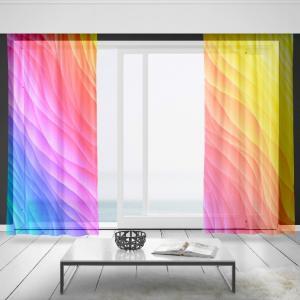 Záclony Farebné vlny (Rozměr záclony: 150x250)