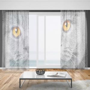 Záclony Mačací pohľad (Rozměr záclony: 150x250)