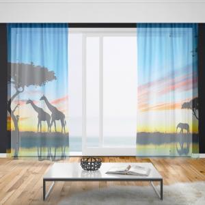 Záclony Noční safari (Rozměr záclony: 150x250)