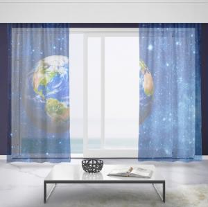 Záclony Planéta Zem (Rozměr záclony: 150x250)