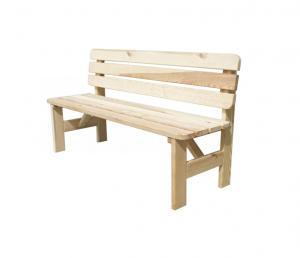 Záhradná drevená lavica VIKING - 150 cm