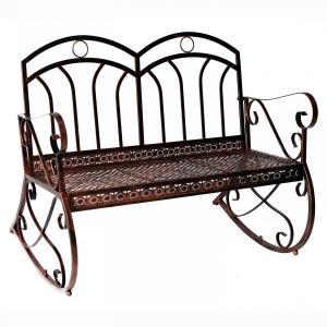 Záhradná hojdacia lavička - antik bronz